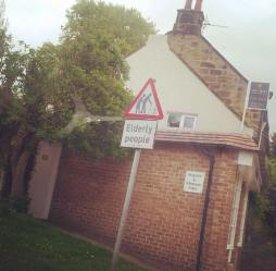 A sign in Great Ayton